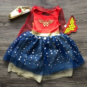 Infant Wonder Woman Costume with Crown, 12 Months